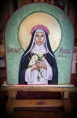 Rose of Lima Icon
