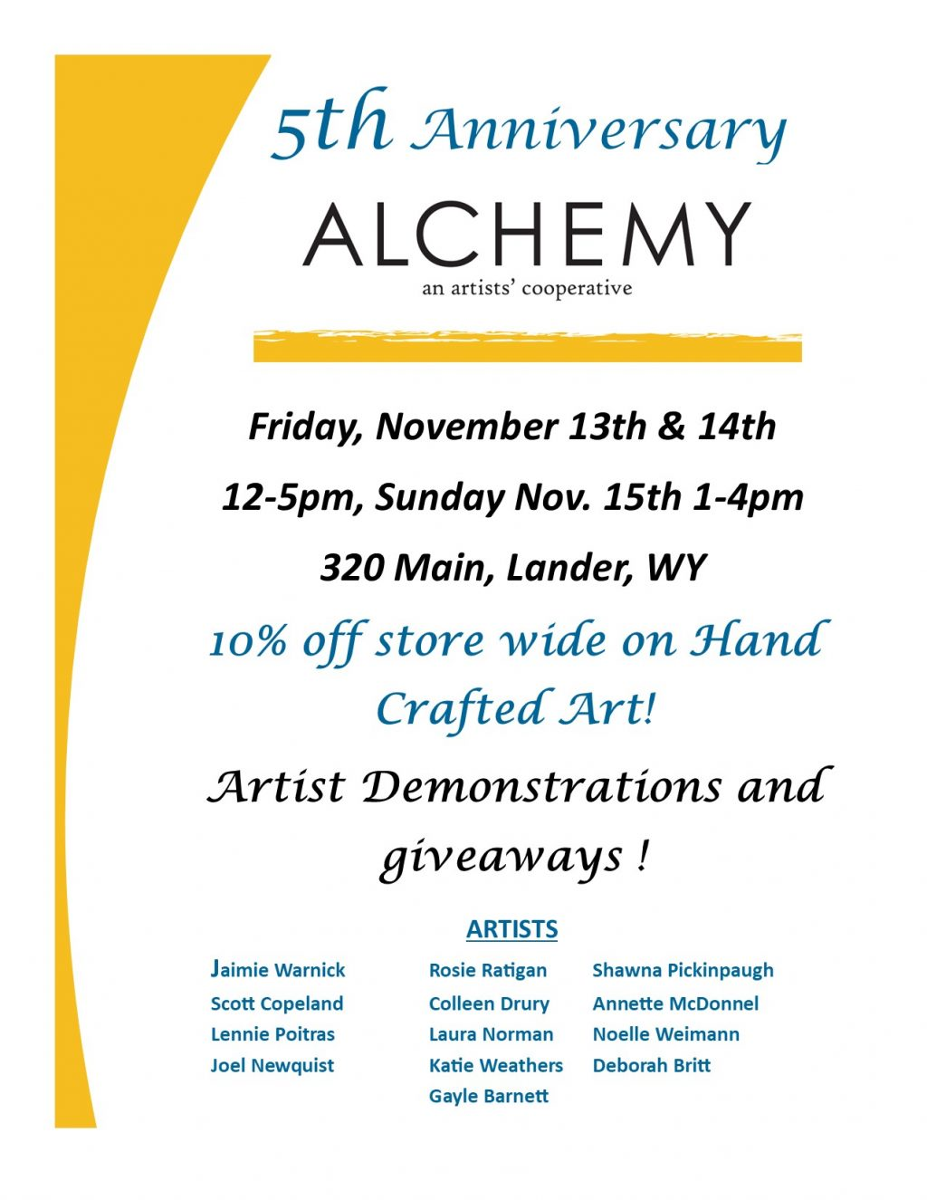 5th Anniversary Alchemy